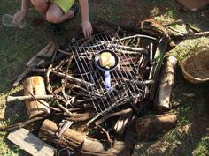 "Campfire roleplay from Mummy Musings and Mayhem ("",) Outdoor Activities For Kids, Outdoor Learning, Outdoor Areas, Outdoor Play, Role Play Areas, Continuous Provision, Mini Beasts, Allan, Mud Kitchen"