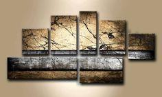 MF_001 / Cuadro Abstracto piedra marron