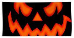 Halloween Beach Towel featuring the digital art Scary Pumpkin Face by Martin Capek Pumpkin Face Carving, Awesome Pumpkin Carvings, Pumpkin Eyes, Scary Pumpkin Faces, Scary Faces, Halloween Images, Halloween Boo, Halloween Pumpkins, Halloween Ideas