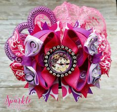 Check out this item in my Etsy shop https://www.etsy.com/listing/287430663/over-the-top-pink-and-purple-fancy-nancy
