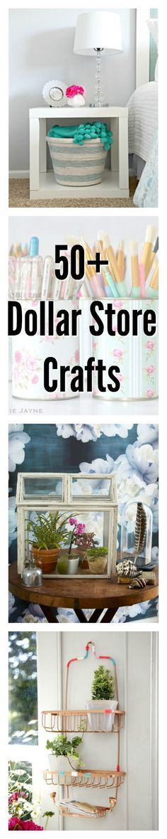 From organization solutions to beautiful decor, you won't believe these crafty ideas started at the dollar store. From organization solutions to beautiful decor, you won't believe these crafty ideas started at the dollar store. Diy Craft Projects, Diy House Projects, Diy Home Crafts, Decor Crafts, Craft Ideas, Crafts Cheap, Craft Tutorials, Diy Décoration, Easy Diy
