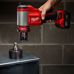 Milwaukee is soon coming out with a new cordless battery-powered knockout punch driver. Plumbing Tools, Carpentry Tools, Woodworking Tools, Cheap Power Tools, Cool Tools, Diy Tools, Hand Tools, Milwaukee Power Tools, Tool Board