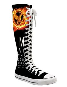 I found 'Hunger Games Knee High Converse Fan Art' on Wish, check it out!