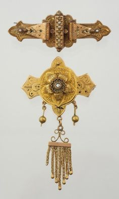 "from: Cassandra Eckert: ""Rolled Gold Victorian Brooches"""