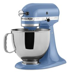 This cornflower blue Artisan series mixer is a lovely shade for a lovely mixer.