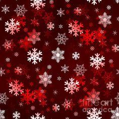 Dark Red Snowflakes