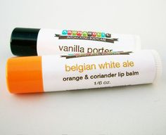 Beer flavored Lip Balms Vanilla Porter & Belgian by aromaholic, $7.50