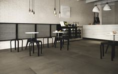 FRAME : GREY - Indoor tile / for floors / porcelain stoneware / high-gloss by FAP ceramiche House In The Woods, Stoneware, Porcelain, Dining Table, Indoor, Flooring, Frame, Inspiration, Furniture