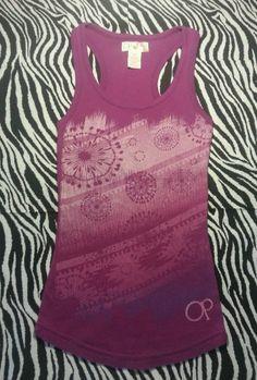 OP Ocean Pacific Juniors Womens Purple Waffle Weave Tank Top Shirt  Size S ~EUC #Op #KnitTop