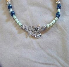 Use this beautiful bib style necklace design idea with jasper, turquoise and other beads to make your own bib necklace.  Jasper (also called Impression