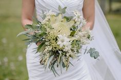 #white waratah, #native flowers #australian natives #flannel flowers #country style #waratah Bridal bouquet