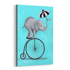 Shop for Noir Gallery Funny Elephant Umbrella Painting Canvas Wall Art Print. Get free delivery On EVERYTHING* Overstock - Your Online Art Gallery Store! Cute Easy Paintings, Funny Paintings, Cute Canvas Paintings, Easy Canvas Painting, Elephant Canvas Painting, Painting Art, Elephant Wall Art, Funny Elephant, Elephant Print