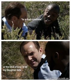 Actual Sunshine Antoine Triplett Phil Coulson Agents Of None Of This Really Happened 1x22 Fane Agents Of Shield Marvel Agents Of Shield Phil Coulson