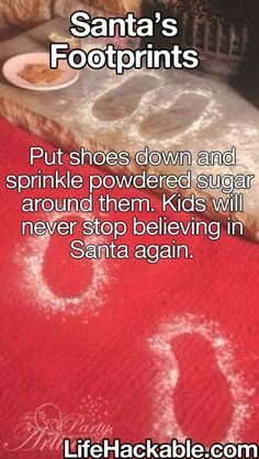 Ummm...we're going with baby powder to ward off ants, but the idea is fantastic!
