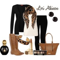 """Pops Of Leopard"" by Lori Atkinson on Polyvore"