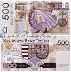 Billete - Polonia 1994 - 500 Zlotys Money Notes, Money Sign, Dollar Money, Notes Design, World Coins, European History, Silver Coins, Rare Coins, Cutest Dogs