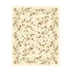 Safavieh LNH325A Lyndhurst Ivory Power Loomed Polypropylene Country ($257) ❤ liked on Polyvore featuring home, rugs, home decor, safavieh rugs, floral rug, border area rugs, patterned rugs and ivory rug