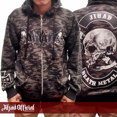 Official : Jihad Death Metal (Merch 2016) Zipper Camo : The Brandal Death Metal Size : M - L - XL - XXL Price : Rp. 240.000,- (Exclude Shipping) Order : 085222090666 Pin : 2A1DF4D1 Instagram : https://www.instagram.com/jihadeathmetal/