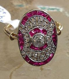 French art deco ruby - The art deco jewelry I post should really be on my Art, Photography, etc. board