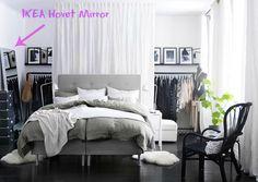 Ikea Hovet Mirror via love ya bean it