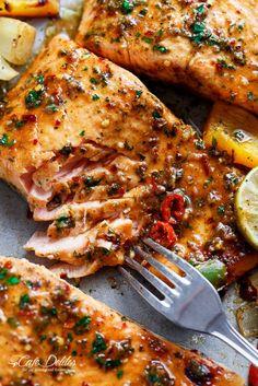 Sheet Pan Chili Lime Salmon   http://cafedelites.com