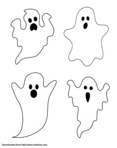 Silueta de fantasma con huellas de dedos para Halloween
