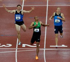 Ashton Eaton - world record holder Decathalon - and I was there at the finish line to see it!