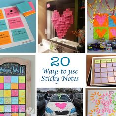 20 Ways to use Sticky Notes howdoesshe.com