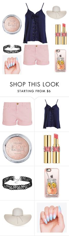 """Untitled #207"" by fluffbunny231 ❤ liked on Polyvore featuring beauty, Current/Elliott, Sans Souci, Yves Saint Laurent, Casetify and Nine West"