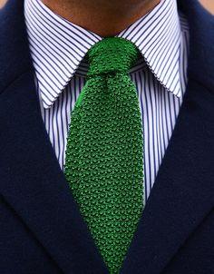 Green Knit Tie by Ralph Lauren. Lovely!