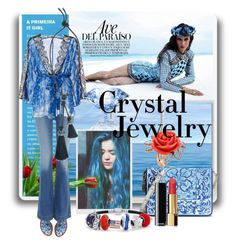 """""""crystal jewelry"""" by kari-c ❤ liked on Polyvore featuring Dolce&Gabbana, Hudson Jeans, Morgan Lane, Lanvin, Chanel, Bling Jewelry, Mawi and crystaljewelry"""