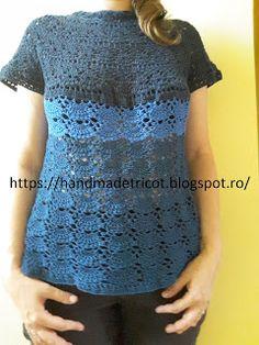 Handmade tricotaje: Bluzita crosetata de vara
