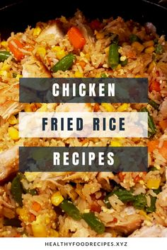 Easy & Delicious Chicken Fried Rice Recipe you must try at home Chicken Fried Rice Chinese, Chicken Fried Rice Recipe Easy, Chicken Fried Cauliflower Rice, Healthy Fried Rice, Healthy Rice Recipes, Veggie Fried Rice, Chicken Rice Recipes, Fried Chicken, Carbs In Chicken