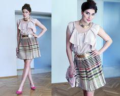 Get this look: http://lb.nu/look/8663895  More looks by Panda Mone: http://lb.nu/pandamone  Items in this look:  Blouse, Heels   #chic #elegant #retro #totallook #powderpink #pink #pastels #heels #burgundy