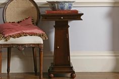 Our Eclectic wooden Pedestal Table is a versatile piece that matches furniture in our Georgian range. Made of solid timber, it features a pull-out tray at the top, two fixed internal shelves, and elegant, ball carved feet.A full range of traditional wooden bedroom furniture is available, including bedside cabinets, chests of drawers, dressing tables, bedroom chairs and wardrobes. Wooden Bedroom, Bedroom Chair, Bedroom Furniture, Bedside Chest, Bedside Cabinet, Bedside Tables, Wooden Furniture, New Furniture, Metal Bedsteads