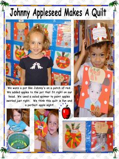 we make a quilt using quart sized baggies and awesome art Awesome Art, Cool Art, Apple Seeds, Scarecrows, Pilgrims, Bats, Pumpkins, Harvest, Kindergarten
