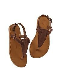 Suede thong sandals GAP