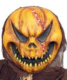 is listed (or ranked) 3 on the list Scary Pumpkins That'll Send Trick-or-Treaters Running Halloween Prop, Scary Halloween Cakes, Terrifying Halloween, Halloween Pumpkins, Halloween Stuff, Halloween Crafts, Halloween Makeup, Halloween Ideas, Halloween Decorations