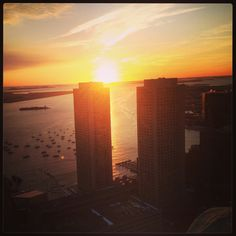 Sunrise view from Marriott Vacation Club's Custom House in #Boston!
