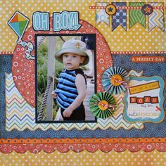 Cute layout for kids. - love the layers!
