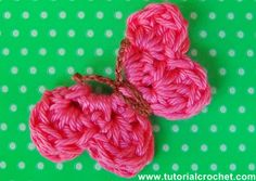 Tutorial Croche crochet butterfly patterns and explanations