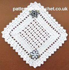 Free crochet pattern for pretty doily http://www.patternsforcrochet.co.uk/pretty-doily-usa.html #patternsforcrochet