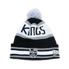 New Era Los Angeles Kings Beanie w  Pom (Black Grey-White) fe2590d832ce
