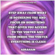 Step away from what's bothering you...
