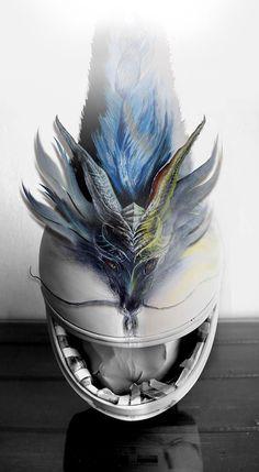 Echa un vistazo a mi proyecto @Behance: \u201cCasco Dragón\u201d https://www.behance.net/gallery/35690213/Casco-Dragon