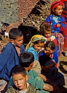 Berber children . Morocco