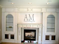 Fireplace Mantels with Wall Units Waffle Ceiling, Modern Fireplace Mantels, Family Room Fireplace, Classic Living Room, Crown Molding, Wainscoting, Wall Units, Raised Panel, Gta
