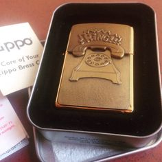zippo BS brass ring telephone surprise emblem