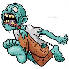 Buy Zombie by SARAROOM on GraphicRiver. Vector illustration of Cartoon Zombie Zombie Cartoon, Cartoon Clip, Dope Cartoon Art, Cartoon Design, Halloween Vector, Halloween Horror, Dinosaur Outline, Zombie Illustration, Zombies