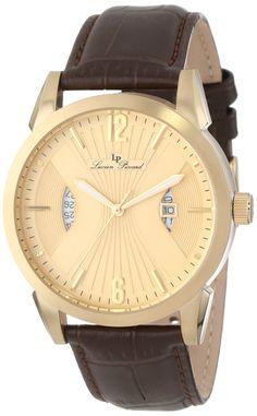 Lucien Piccard Men's LP-11561-YG-010 Watzmann Gold Dial Brown Leather Watch…